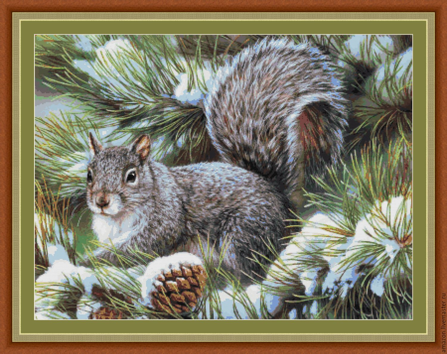Kit embroidery with beads 'Squirrel ', Sets, Sterlitamak,  Фото №1