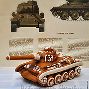 Сувениры и подарки ручной работы. Ярмарка Мастеров - ручная работа Большой пряничный танк Т-34 - уникальный подарок для мужчины. Handmade.