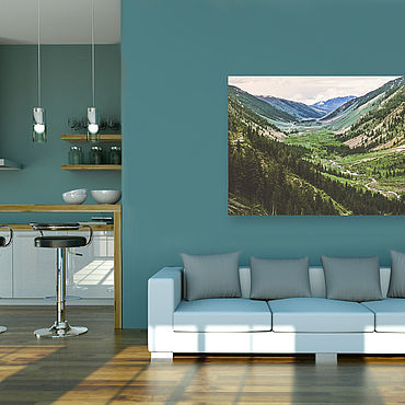 Картины и панно ручной работы. Ярмарка Мастеров - ручная работа Картина на холсте Горные склоны. Handmade.