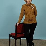 Одежда handmade. Livemaster - original item sweater with a collar golf. Handmade.