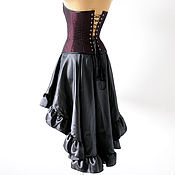 Одежда ручной работы. Ярмарка Мастеров - ручная работа Черная асимметричная юбка пышная юбка готика лолита фетиш. Handmade.