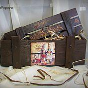 Сувениры и подарки ручной работы. Ярмарка Мастеров - ручная работа Винный ящик на заказ. Handmade.