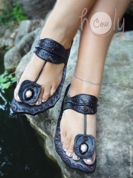 """Обувь ручной работы. Ярмарка Мастеров - ручная работа. Купить Кожаные сандалии """"Funky Thai"""". Handmade. Коричневый, обувь для улицы"""