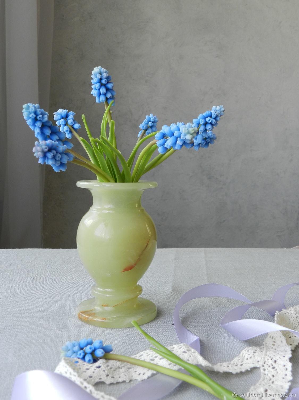 Bouquet 'Blue Muscari' cold porcelain, Bouquets, Voskresensk,  Фото №1