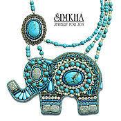 Украшения handmade. Livemaster - original item Necklace with elephant. Handmade.