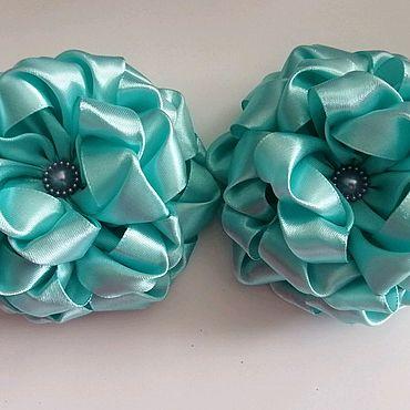 Украшения ручной работы. Ярмарка Мастеров - ручная работа Бантики-цветы на резинке. Handmade.