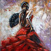 Картины и панно ручной работы. Ярмарка Мастеров - ручная работа Картина маслом Магия танца Фламенко. Handmade.