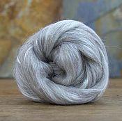 Материалы для творчества handmade. Livemaster - original item B09.  Blend of Silk Toussaint/Grey-beige Alpaca. 50 grams.. Handmade.