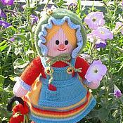 Куклы и игрушки ручной работы. Ярмарка Мастеров - ручная работа Вязаная кукла из шерсти Марфуша. Handmade.