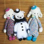 Куклы и игрушки ручной работы. Ярмарка Мастеров - ручная работа Арлекины и Пьеро. Handmade.
