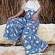 Брюки, шорты ручной работы. Заказать Длинная летняя юбка-брюки. image4you (Лариса). Ярмарка Мастеров. Летняя юбка, гипюр
