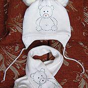 Работы для детей, ручной работы. Ярмарка Мастеров - ручная работа Шапочка+шарфик детский комплект. Handmade.