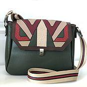 Сумки и аксессуары handmade. Livemaster - original item Leather bag with a long belt