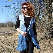 Одежда handmade. Livemaster - original item Vest silk