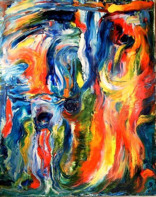 """Абстракция ручной работы. Ярмарка Мастеров - ручная работа. Купить Картины на холсте_Картина """"Бессознательный хаос"""". Handmade. Хаос, танец, непонятный"""