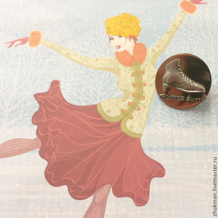 Icon `Notched ridge`. Brooch `Notched ridge`. souvenir Christmas. A gift to the fan of figure skating. Souvenirs and gifts for the new year.