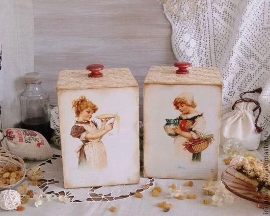 """Кухня ручной работы. Ярмарка Мастеров - ручная работа. Купить Короб для кухни """" Маленькие хозяйки"""", короб для хранения. Handmade."""