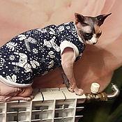 """Одежда для питомцев ручной работы. Ярмарка Мастеров - ручная работа Одежда для кошек """"майка с начесом - Зимняя сказка"""". Handmade."""