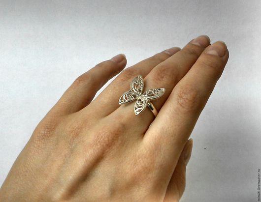 """Кольца ручной работы. Ярмарка Мастеров - ручная работа. Купить Кольцо """"Бабочка"""". Handmade. Кольцо, серебряный"""