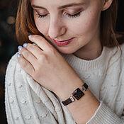 Украшения handmade. Livemaster - original item Buy a bracelet Moscow women`s chocolate with obsidian. Handmade.