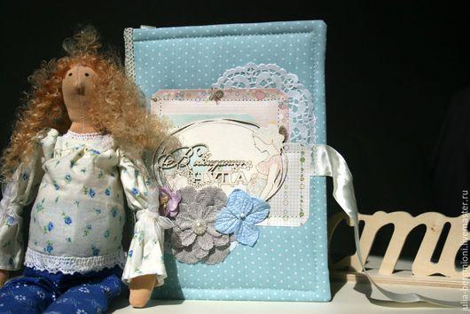 """Блокноты ручной работы. Ярмарка Мастеров - ручная работа. Купить Блокнот для будущей мамы """"В ожидании чуда"""". Handmade."""