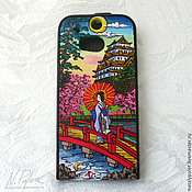 Сумки и аксессуары handmade. Livemaster - original item painted cover for smartphone.