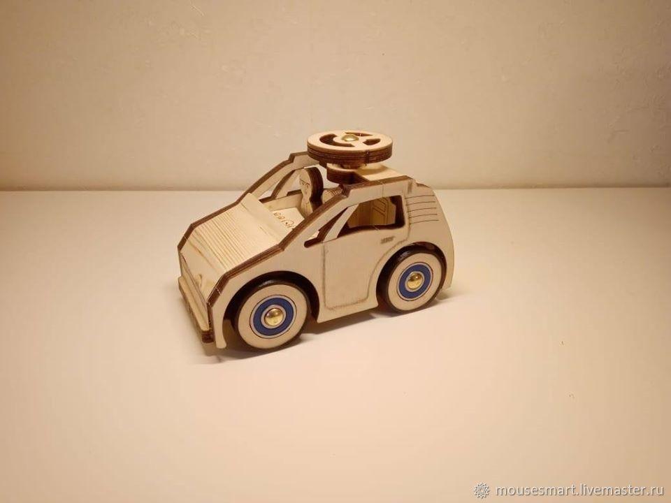 Маленькая машинка с рулем, Техника роботы транспорт, Москва,  Фото №1