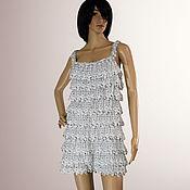 Одежда handmade. Livemaster - original item Shiny sundress crochet Vanessa. Handmade.