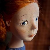 Куклы и игрушки ручной работы. Ярмарка Мастеров - ручная работа Рыжая в голубом. Handmade.