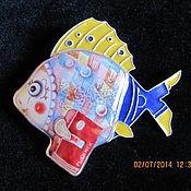 """Брошь-булавка ручной работы. Ярмарка Мастеров - ручная работа """"рыбинская студенточка"""". Handmade."""