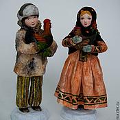 """Куклы и игрушки ручной работы. Ярмарка Мастеров - ручная работа Художественная кукла """"Маричка с курочкой, Иванко с петушком"""". Handmade."""