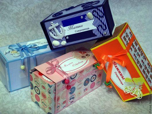 Подарочная упаковка ручной работы. Ярмарка Мастеров - ручная работа. Купить Мамины Сокровища. Handmade. Розовый, скрап бумага