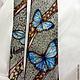 Tie men's silk batik 'morpho butterflies'. Ties. Kenaz silk (KENAZ). My Livemaster. Фото №6