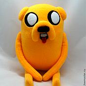 Мягкие игрушки ручной работы. Ярмарка Мастеров - ручная работа Adventure Time Джейк пес. Handmade.
