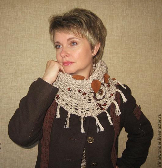 """Шарфы и шарфики ручной работы. Ярмарка Мастеров - ручная работа. Купить Бохо-шарф """"Шепот прошлогодней листвы"""". Handmade."""