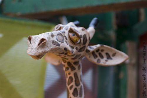 Элементы интерьера ручной работы. Ярмарка Мастеров - ручная работа. Купить Жираф длиношеее животное. Handmade. Керамика ручной работы