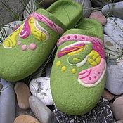 """Обувь ручной работы. Ярмарка Мастеров - ручная работа Валяные тапочки """" Лето на Гаити"""". Handmade."""