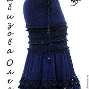 """Одежда ручной работы. Ярмарка Мастеров - ручная работа Вязаная юбка длинная """"Черная Ежевика"""". Handmade."""