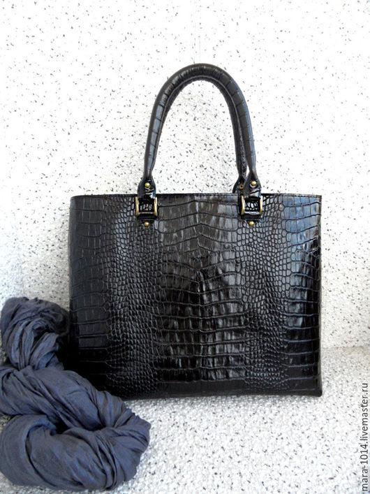 Женские сумки ручной работы. Ярмарка Мастеров - ручная работа. Купить КЛАССИЧЕСКАЯ кожаная сумка, повседневная, на каждый день. Handmade.