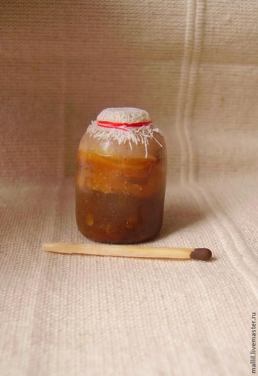 Еда ручной работы. Ярмарка Мастеров - ручная работа. Купить Чайный гриб из полимерной глины. Handmade. Бежевый, чайный гриб