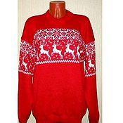 Одежда handmade. Livemaster - original item Sweater with reindeer and Norwegian Christmas tale. Handmade.