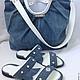 Обувь ручной работы. Ярмарка Мастеров - ручная работа. Купить Летний джинсовый комплект сумка и сабо. Handmade. Синий