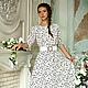Платья ручной работы. Ярмарка Мастеров - ручная работа. Купить Платье 005-рыбка. Handmade. Белый, платье в пол