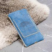 Сумки и аксессуары handmade. Livemaster - original item Phone case for leather. Handmade.