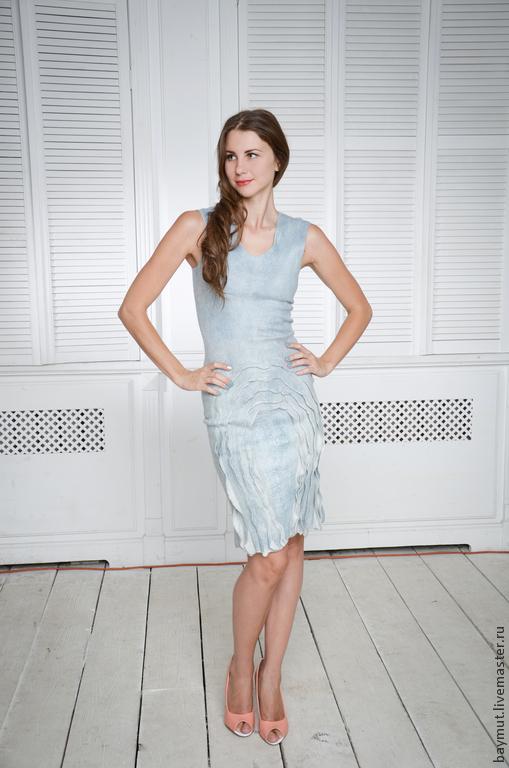 Felted dress bodycon 'Shabby denim', Dresses, Lugansk,  Фото №1