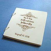 Книги ручной работы. Ярмарка Мастеров - ручная работа Книга пожеланий деревянная. Белая. Handmade.