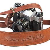 Аксессуары ручной работы. Ярмарка Мастеров - ручная работа Кожаный ремень для фотоаппарата. Handmade.