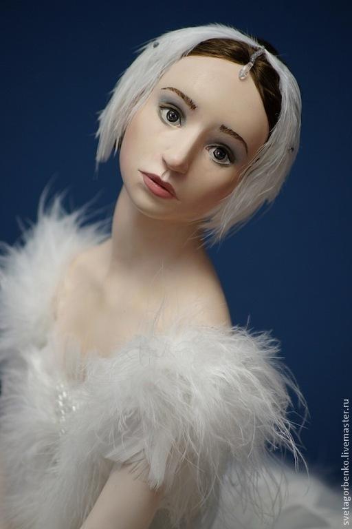 Коллекционные куклы ручной работы. Ярмарка Мастеров - ручная работа. Купить Белый лебедь (Одетта). Handmade. Балет, перья птиц