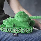 Куклы и игрушки ручной работы. Ярмарка Мастеров - ручная работа Плюшевая игрушка танк Т-34. Handmade.