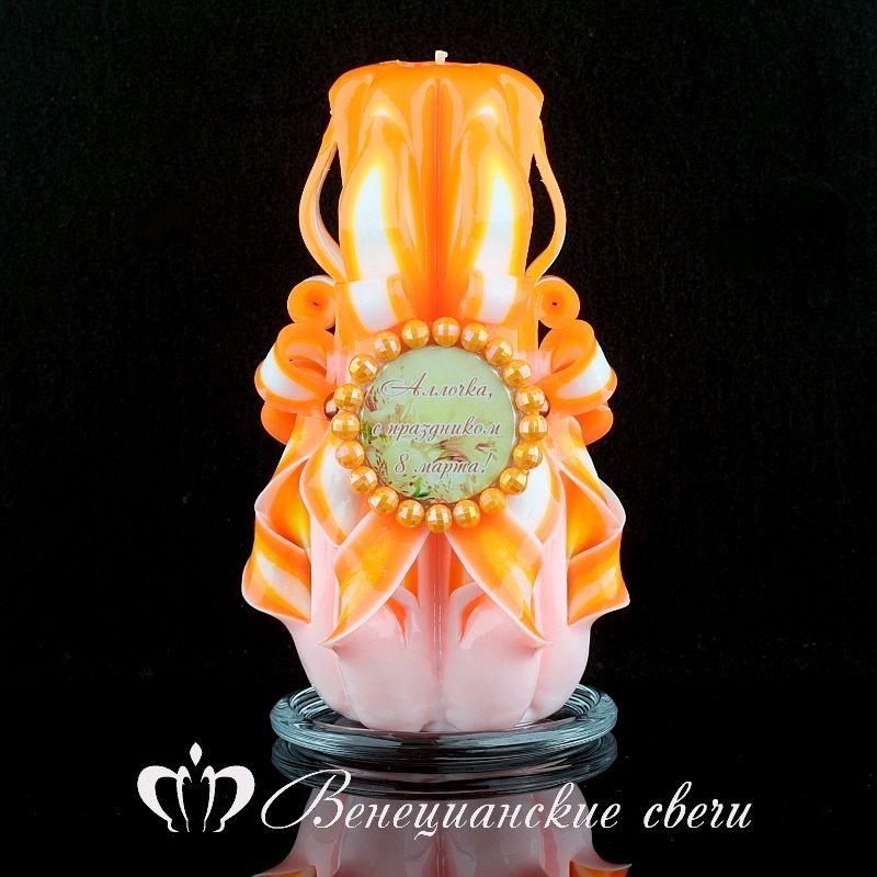 Подарок на 8 марта №42. Резные свечи ручной работы, Свечи, Москва,  Фото №1